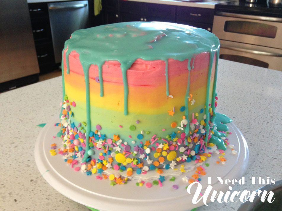 Rainbow Cake Experience | I Need This Unicorn
